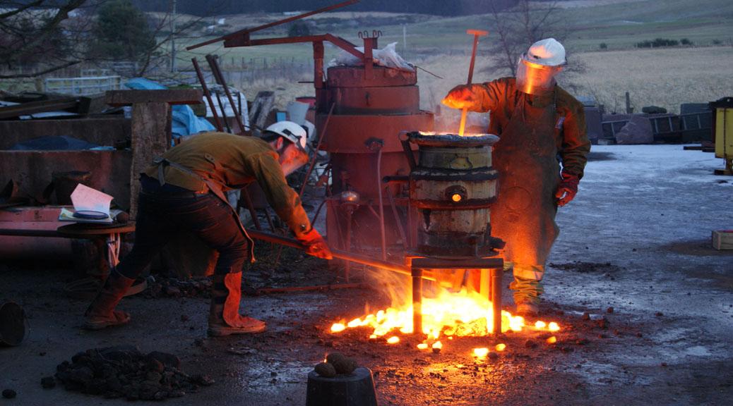 outdoor iron pour