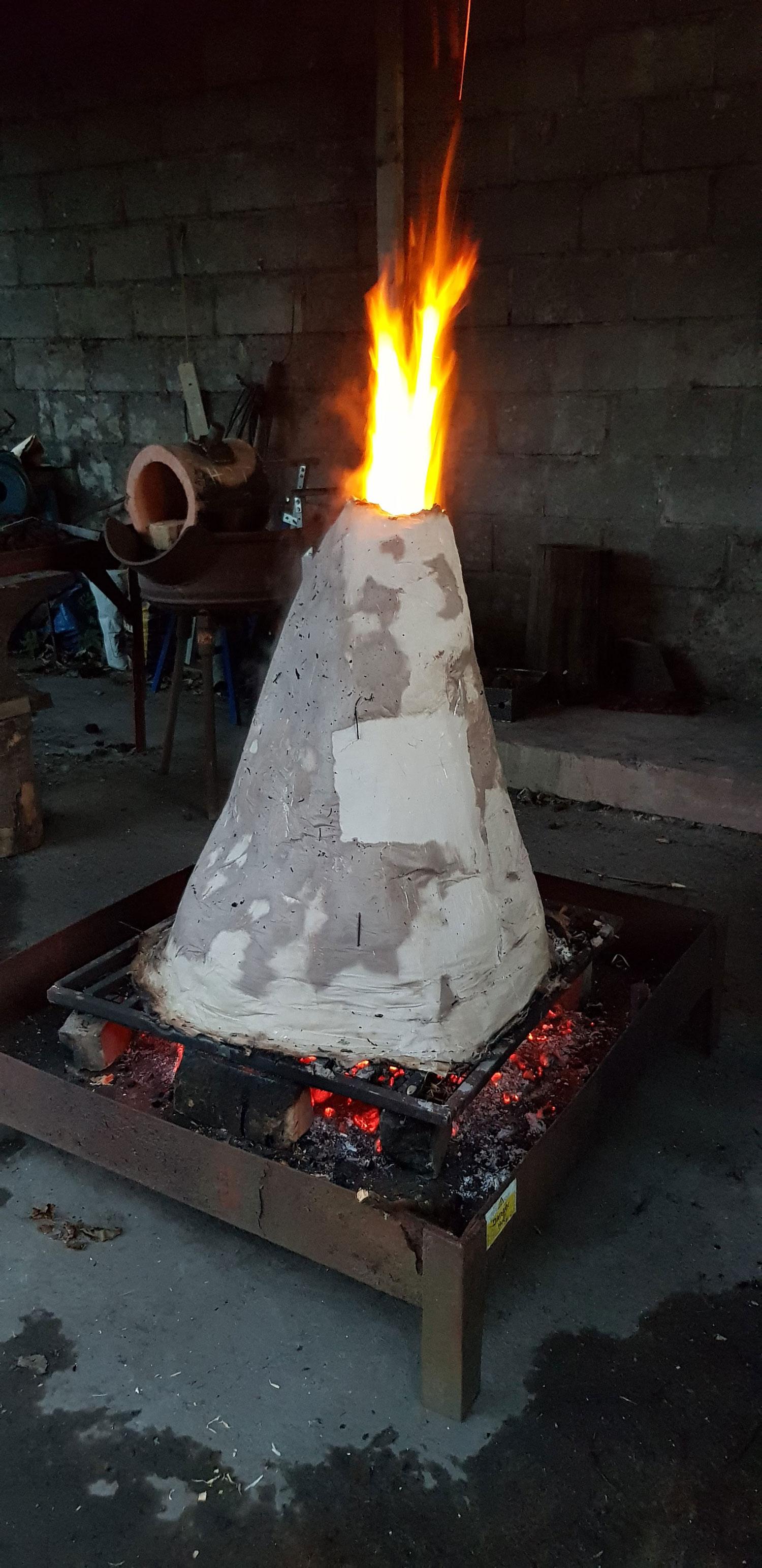 Firing the paper kiln