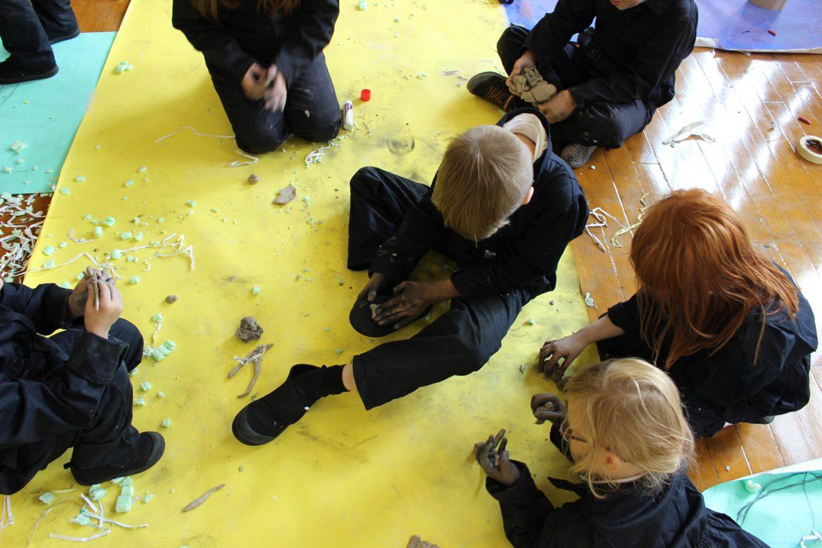 India Harvey workshop with Lumsden School