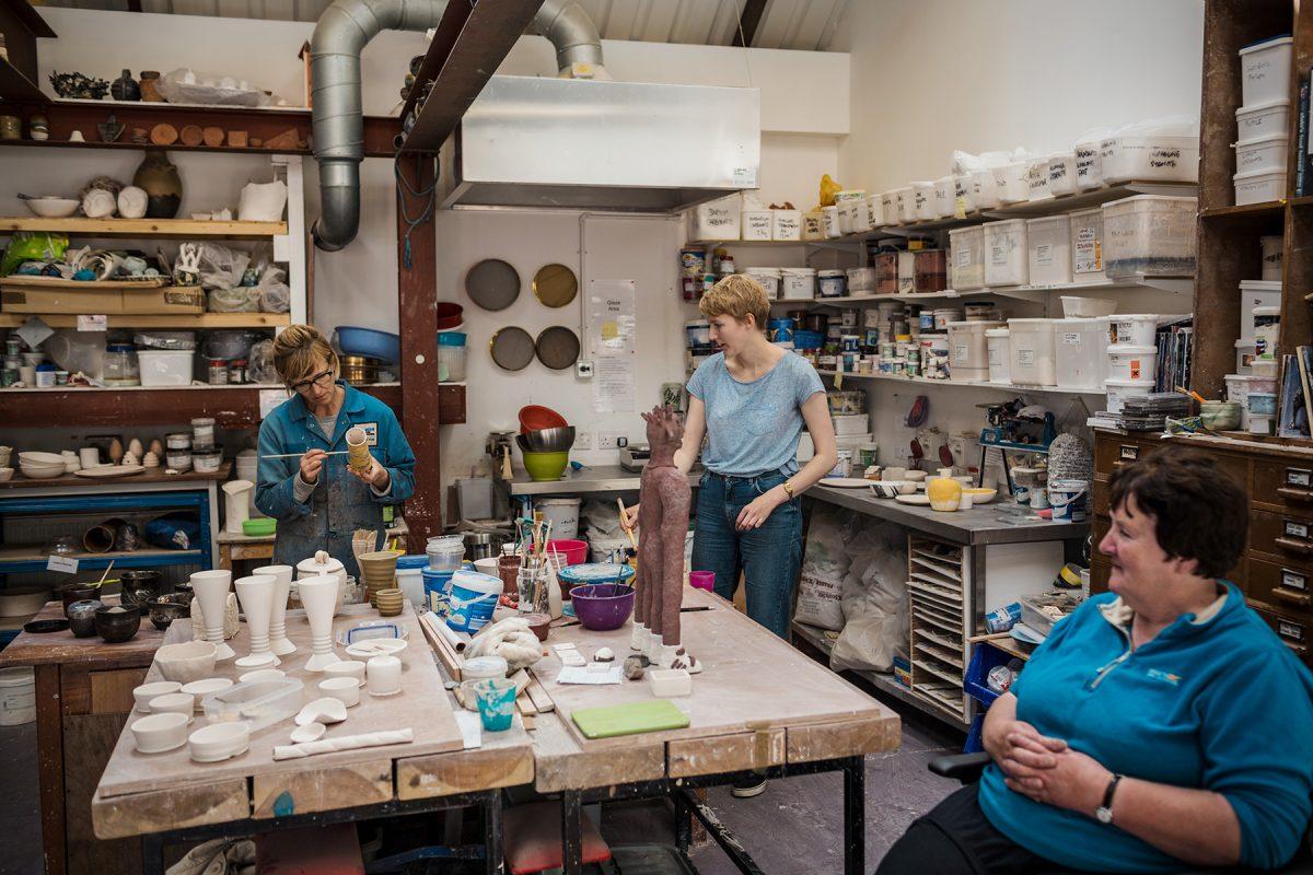 Ceramics studio at SSW