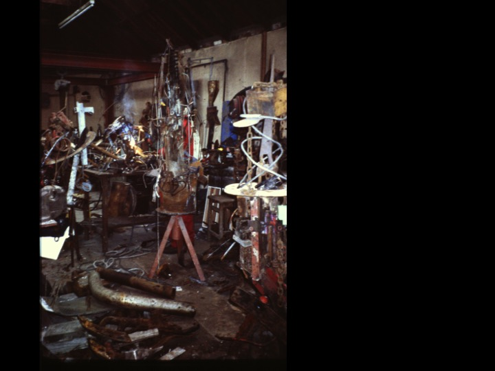 Archival image of messy workshop at SSW