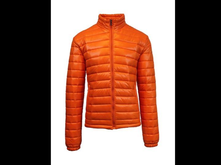 Orange puffa jacket