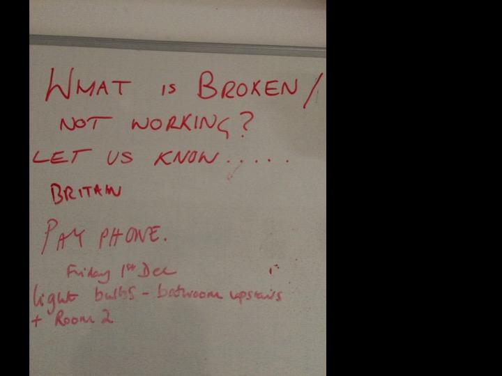 What is broken whiteboard