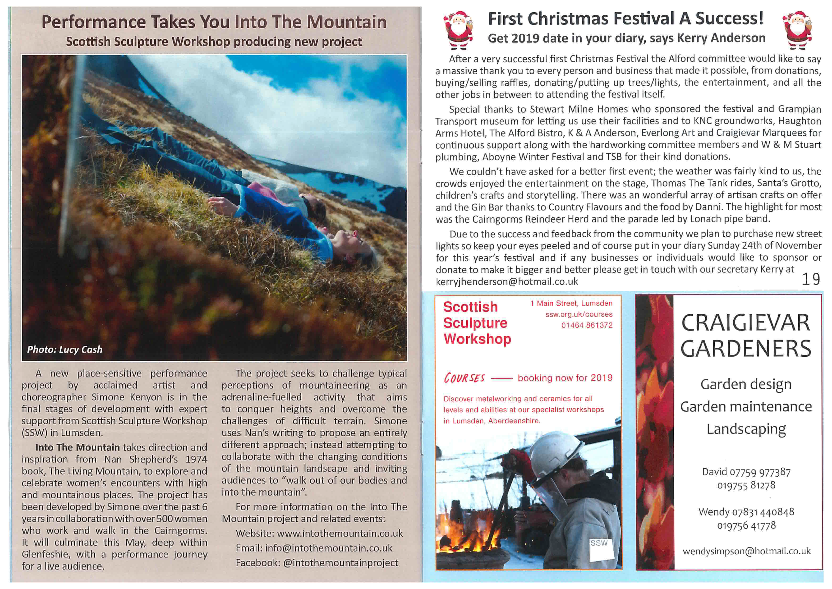 Into The Mountain in the Alford Bulletin