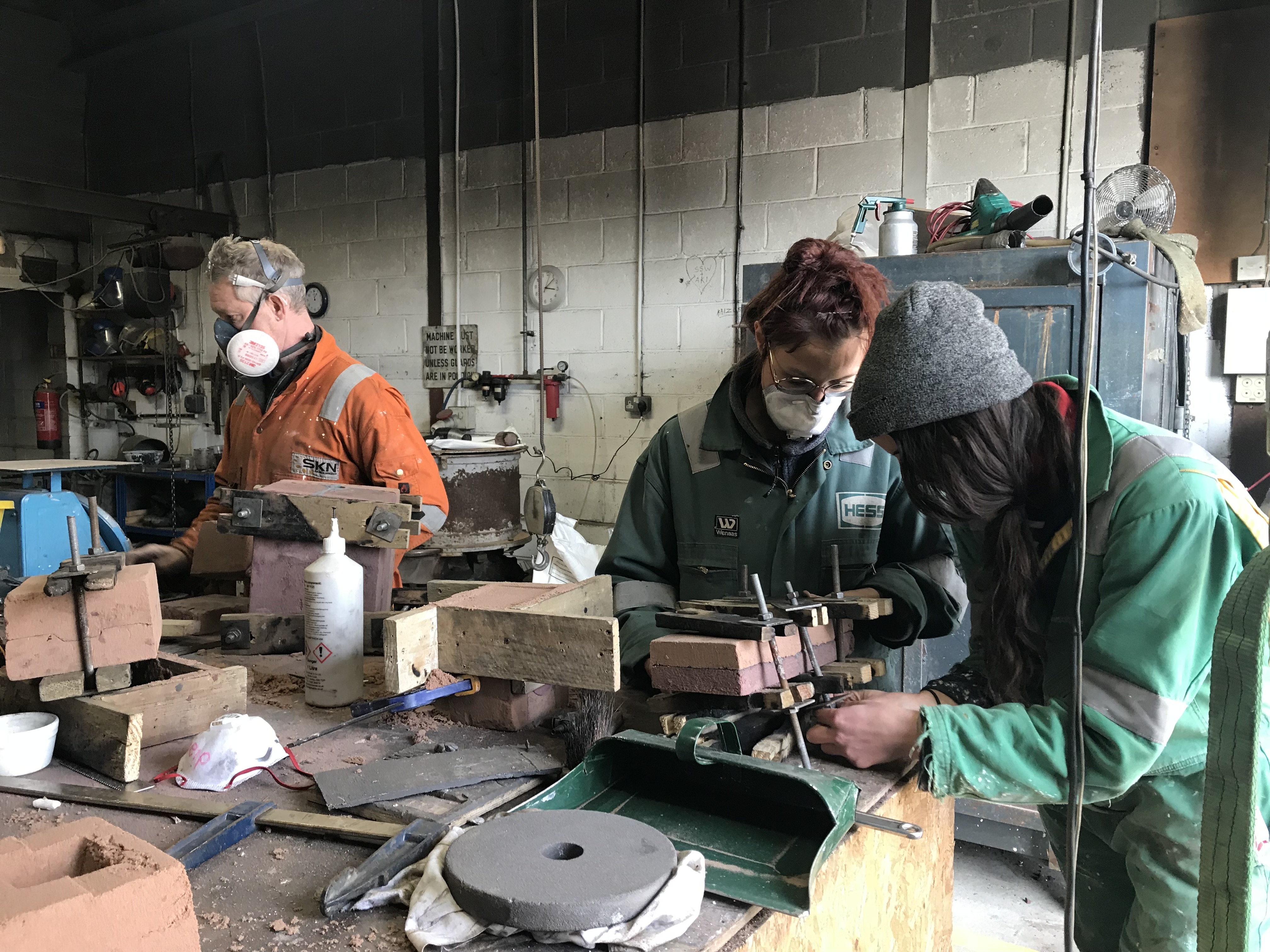 Winter Residency 2019_mould making in the foundry