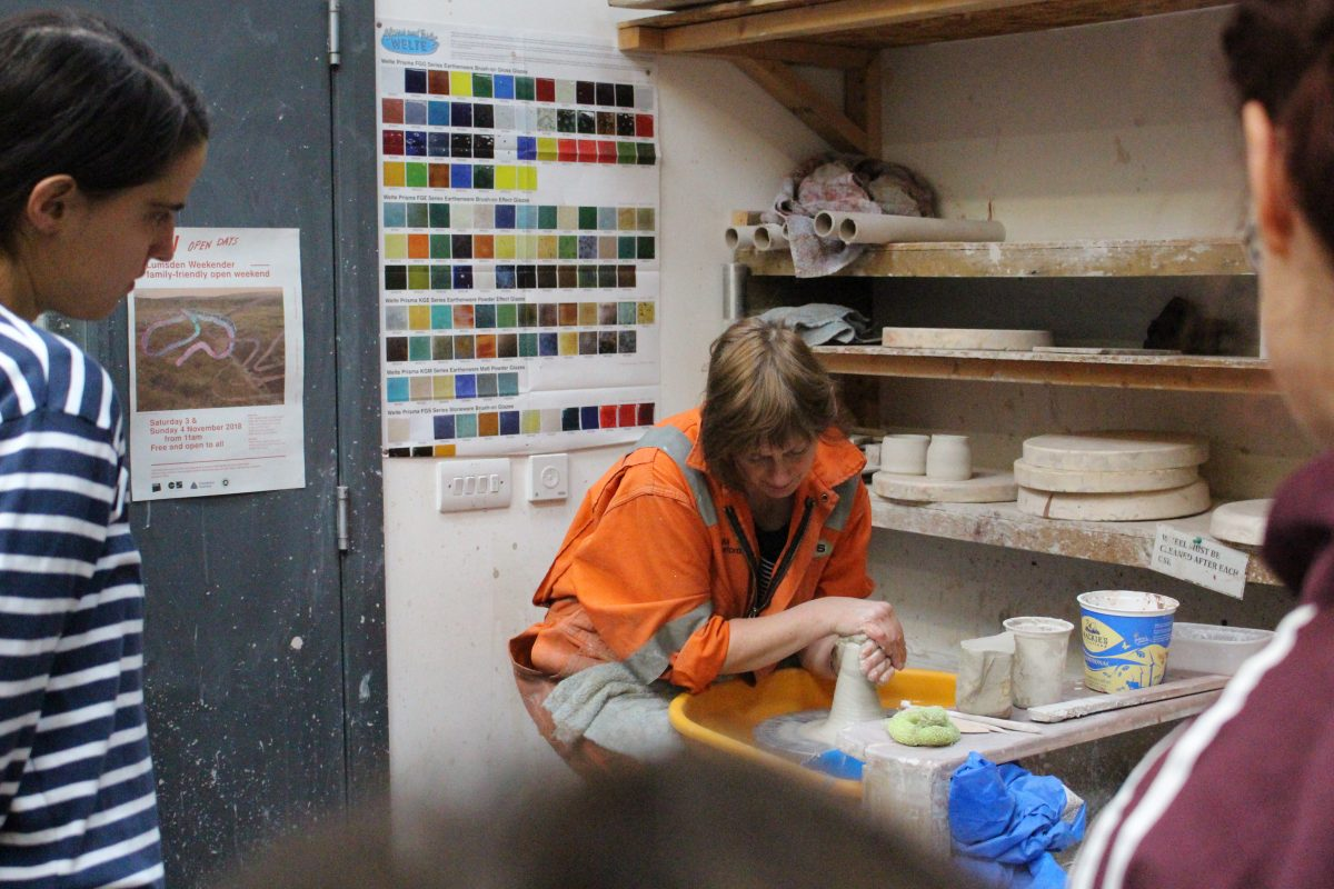 Ceramics Induction with Beth. Photo: SSW