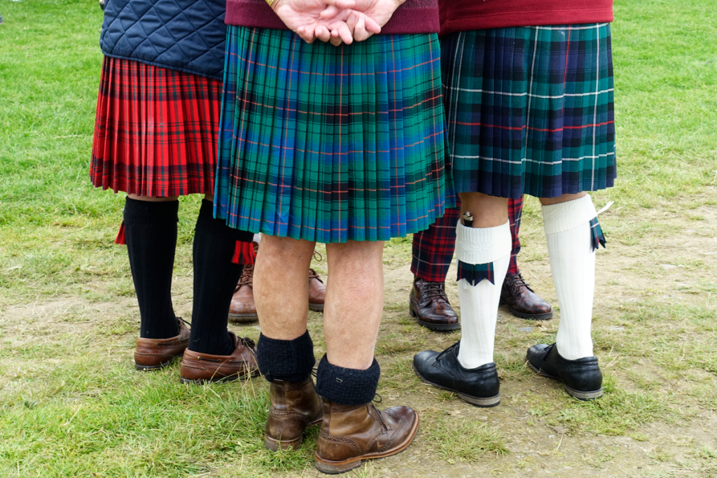 Three kilts